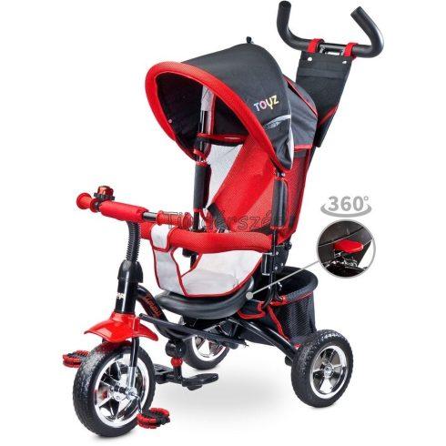 Toyz Szülőkormányos Tricikli Piros, Átfordítható Üléssel