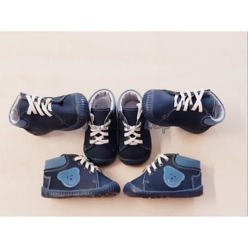 Első Lépés Kisfiú Cipő- Kék macifejes, 17-18-19